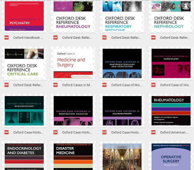 Oxford Medical Books 32 ebooks on 1 link