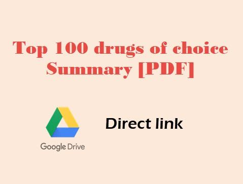 Top 100 drugs of choice Summary [PDF]