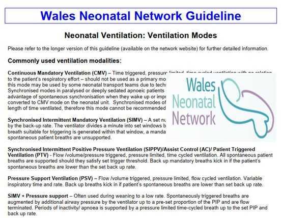 Wales Neonatal Network Guideline