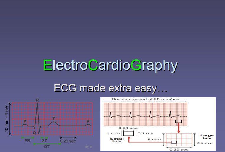 ElectroCardioGraphy (ECG) made extra easy