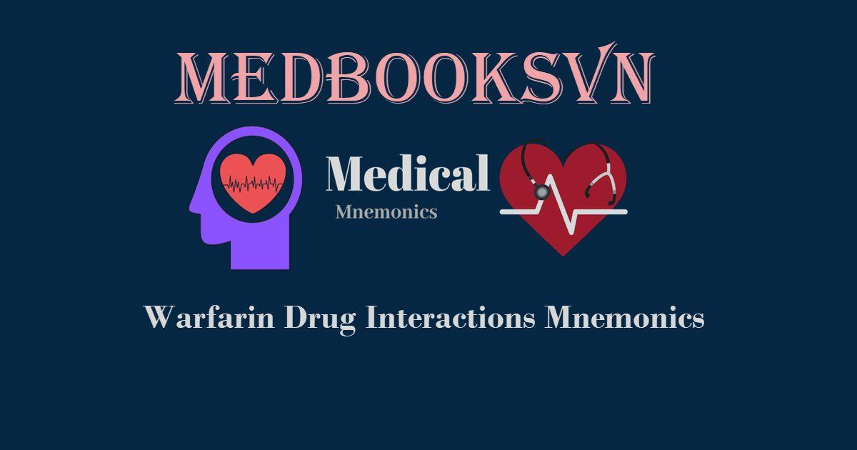 Warfarin Drug Interactions Mnemonics