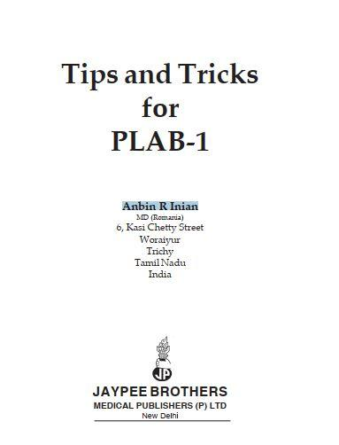 Tips and Tricks for PLAB-1 By Anbin R Inian PDF