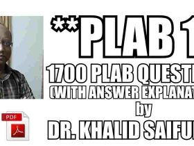 Download Dr Khalid 1700 MCQs With Answers And Explanations