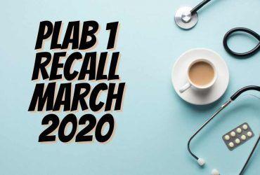 Download PLAB 1 Recall March 2020 PDF