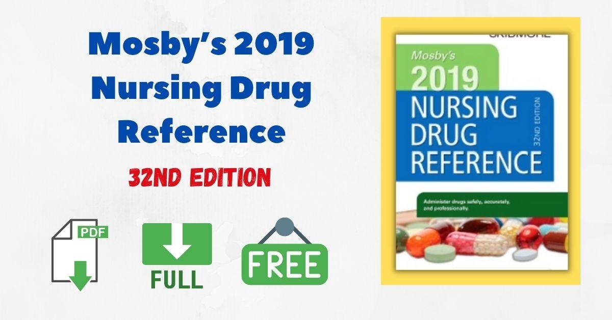 Mosby's 2019 Nursing Drug Reference 32nd Edition PDF